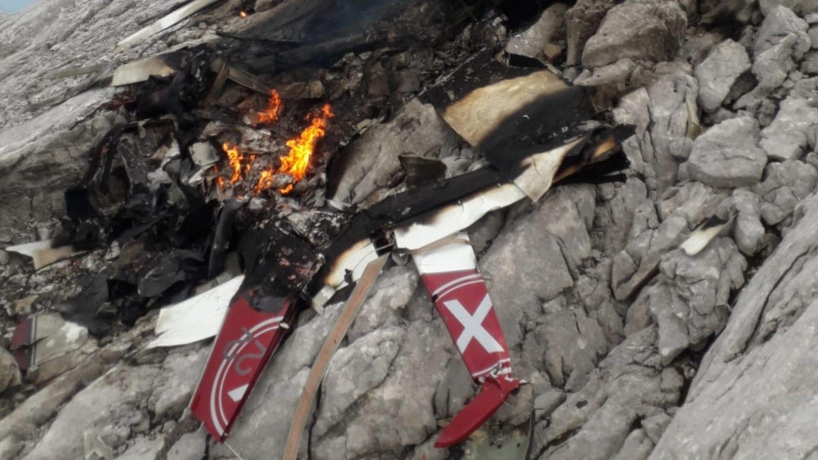 В Альпах разбился самолет, три человека погибли