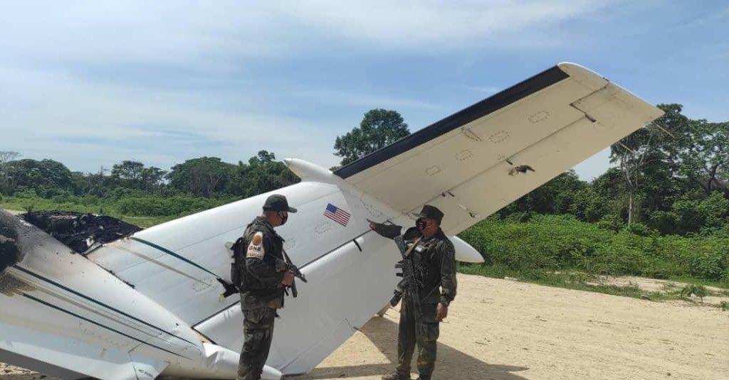 В Венесуэле военные сбили американский самолет с наркотиками