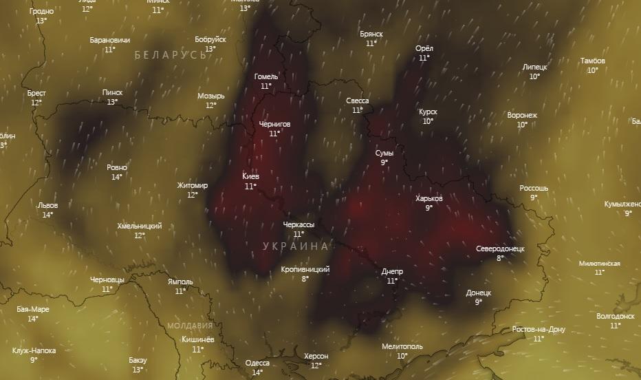 Над Украиной резко выросла концентрация угарного газа. Гончарук ничего аномального пока не видит