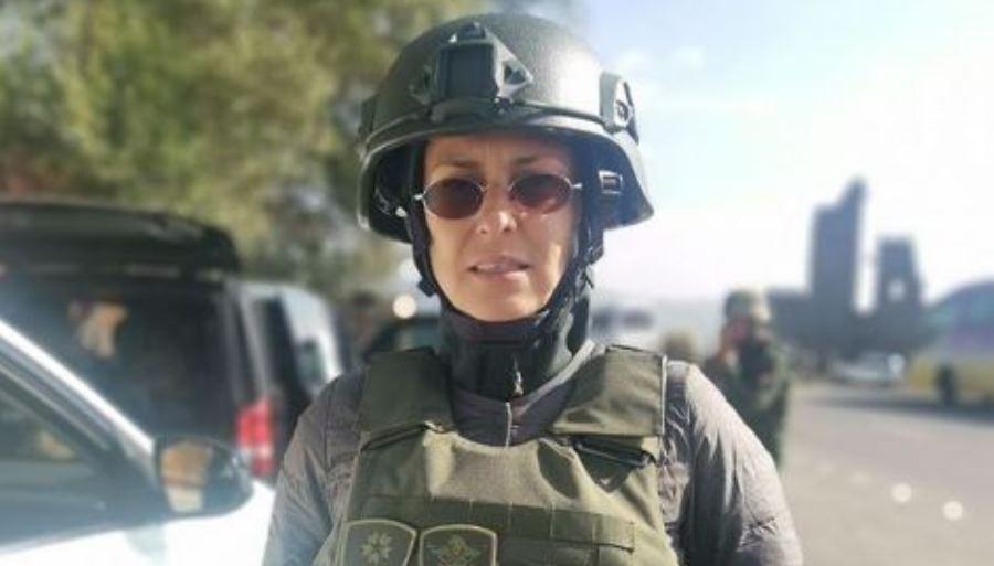 Чичерина попала под обстрел в Нагорном Карабахе,  – СМИ