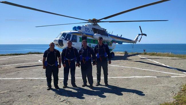 На остров Змеиный сел пограничный вертолет впервые за 12 лет