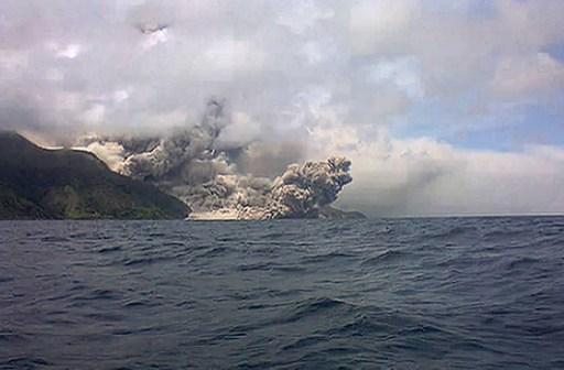 На японском острове впервые за 250 лет проснулся вулкан