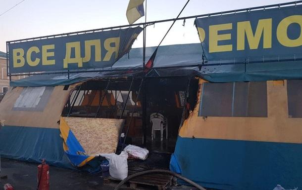 Установлен подозреваемый в поджоге волонтерской палатки в Харькове