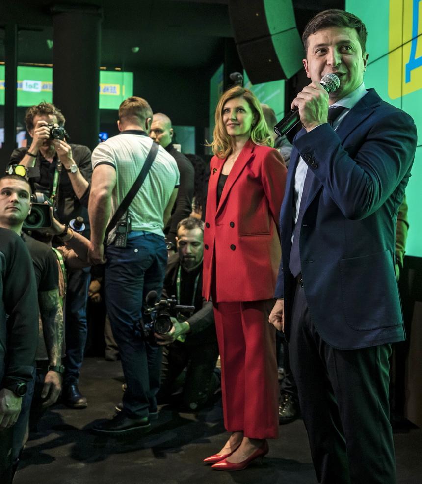 Елена Зеленская, первая леди Украины, Владимир Зеленский, супруга президента Украины