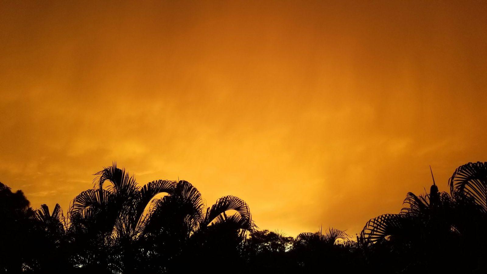 """Пылевое облако """"Годзиллы"""" окрасило небо над Карибами и США в марсианские..."""
