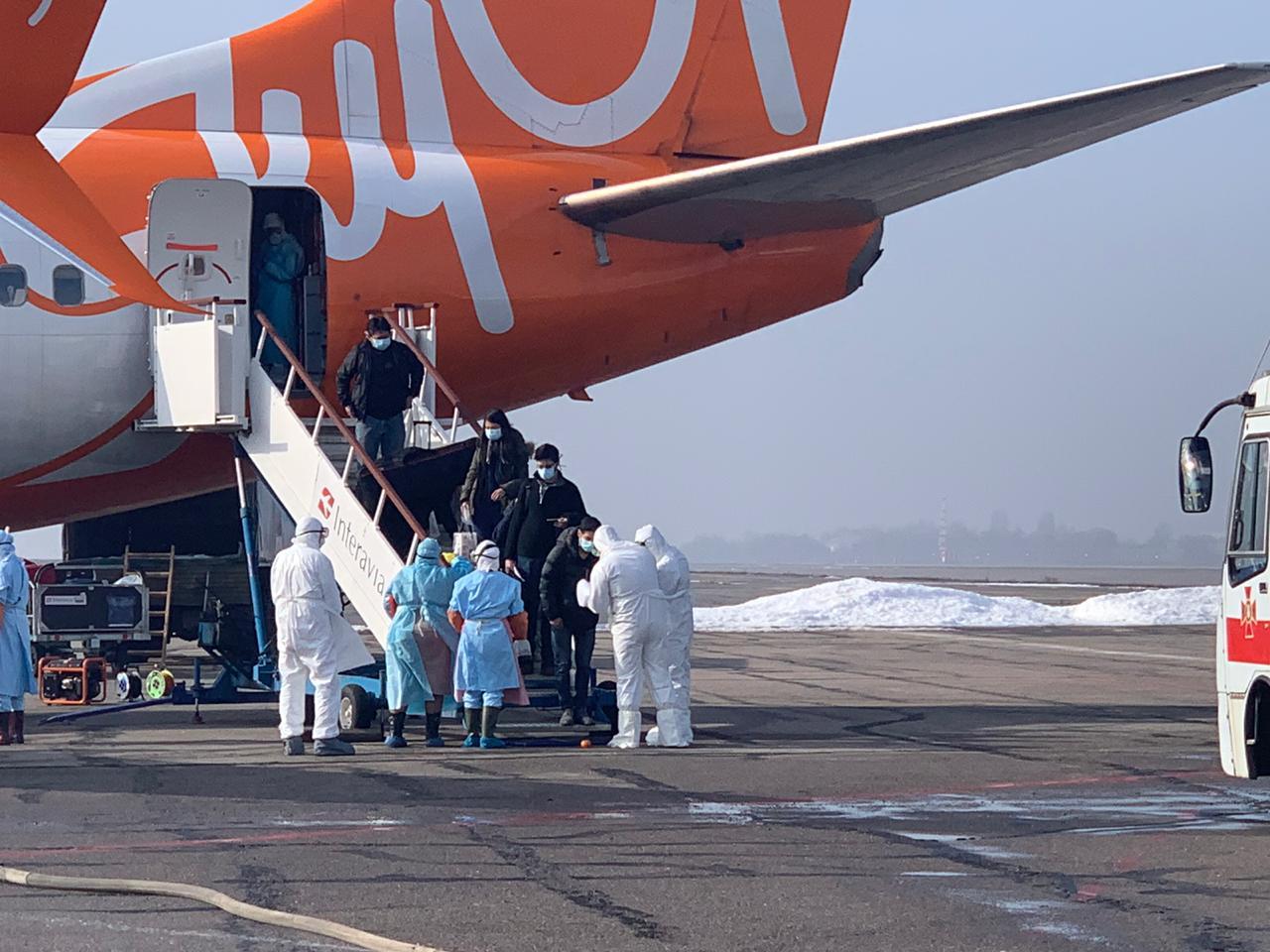Эвакуированные из Китая пассажиры сошли с борта в Харькове,  – ГПСУ
