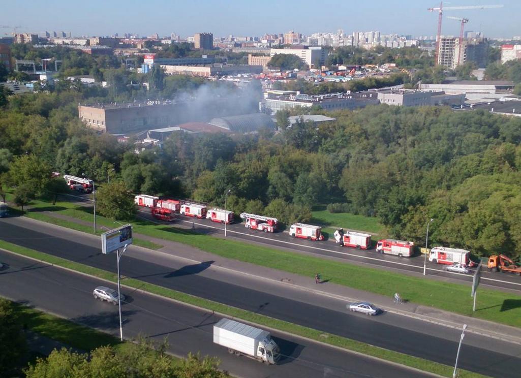 В Москве на складе произошел пожар: погибли 17 человек