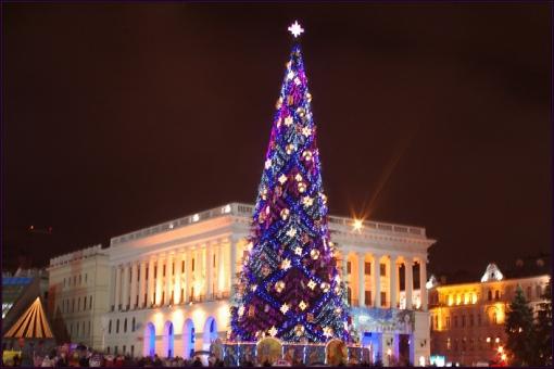 Новогодний Киев: парад, плавание в ластах и забег по улицам 31 декабря