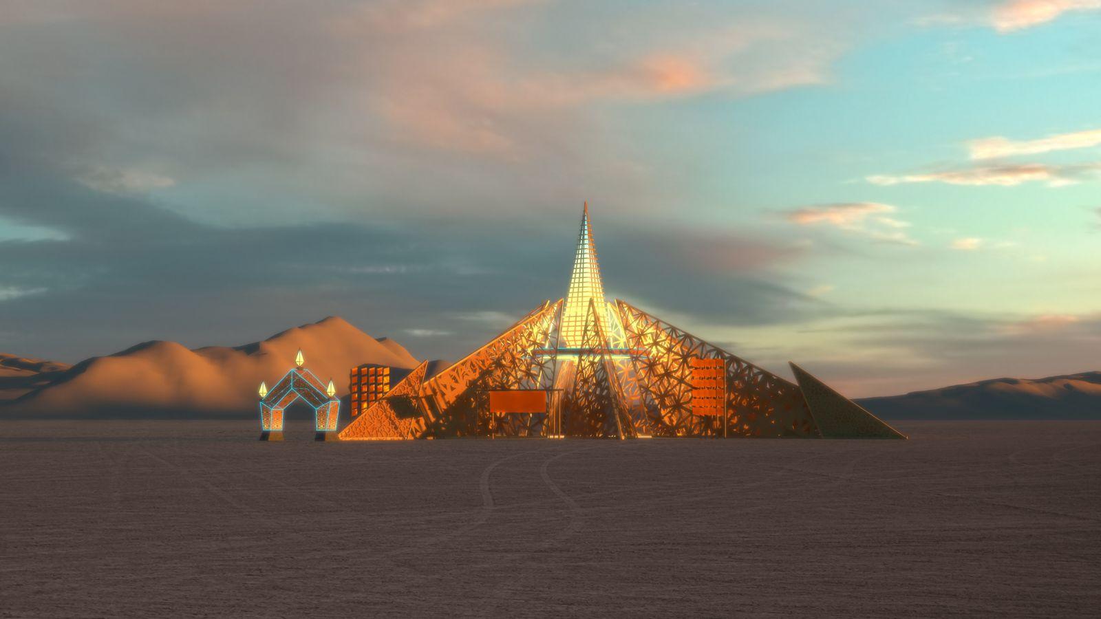 Царство чистого света. Организаторы Burning Man показали, как будет выгл...