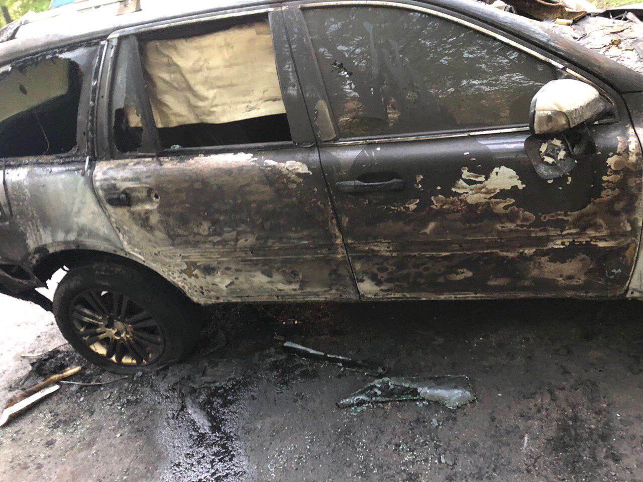 В Днепре сожгли машину главреда газеты