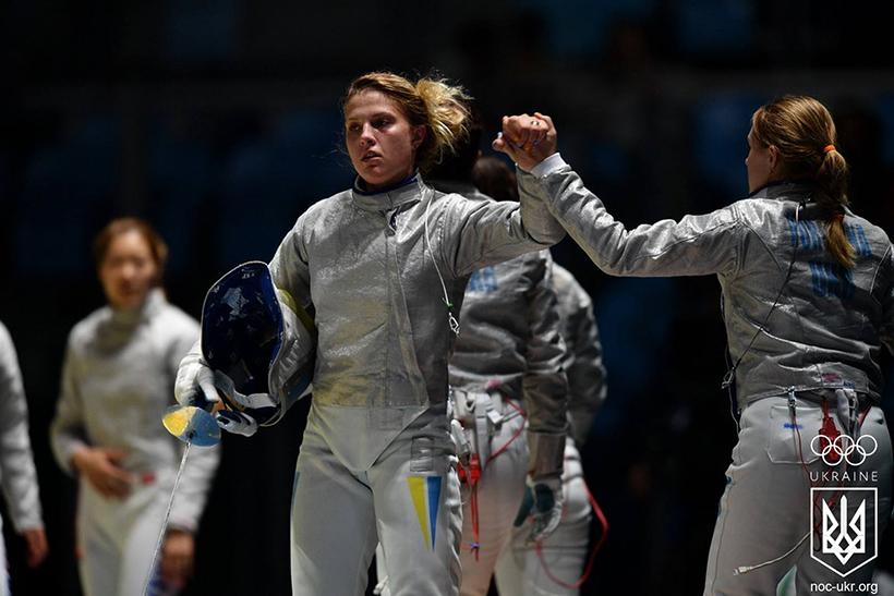 Украинские саблистки прошли в финал Олимпиады