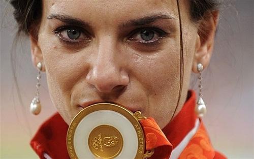 Исинбаева номинирована на звание лучшей легкоатлетки года