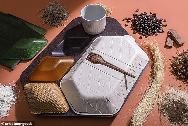 Кофейная гуща и листья бамбука: дизайнеры создали экологическую посуду д...