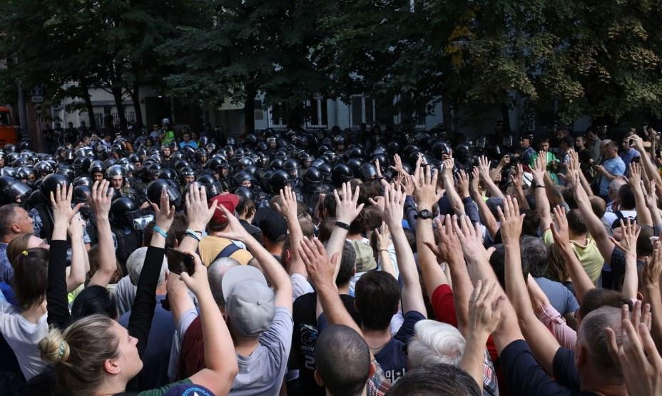 На акции протеста в Москве задержали более тысячи человек