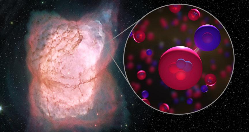 Ученые нашли самую древнюю молекулу во Вселенной
