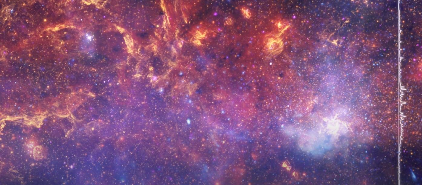 NASA показало, как мог бы звучать центр Млечного Пути, черные дыры и све...