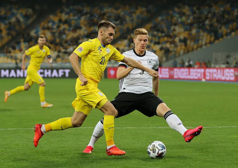 Сборная Украины в Лиге наций уступила Германии 1:2
