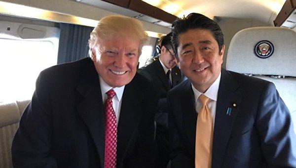 Трамп и Абэ проведут переговоры в Вашингтоне 26 апреля
