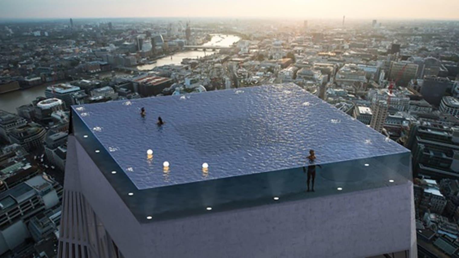 """На лондонском небоскребе построят первый в мире """"бесконечный"""" бассейн"""