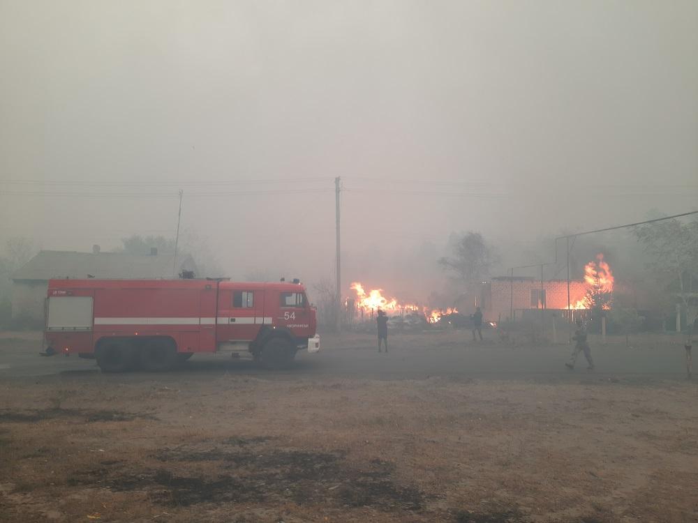 Пожары в Луганской области: в опасности 31 населенный пункт