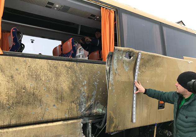 Польский автобус на Львовщине расстреливали из гранатомета, - СМИ