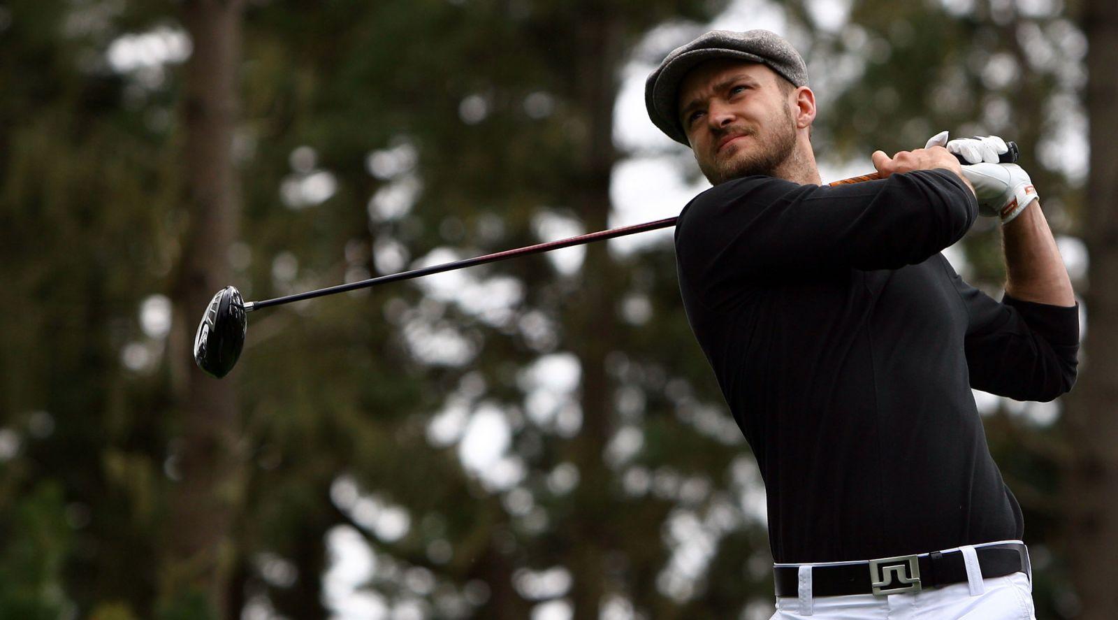 Джастин Тимберлейк завоевал кубок на соревнованиях по гольфу