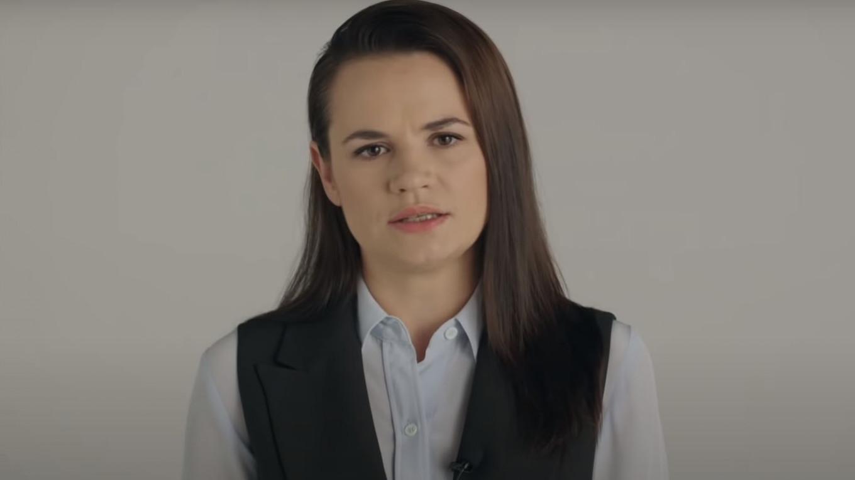 """Тихановская заявила, что в Беларуси проходит """"мирная революция"""""""
