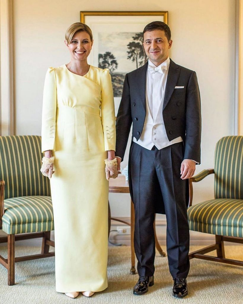 Владимир и Елена Зеленские, первая леди Украины, Владимир Зеленский, супруга президента Украины, фото