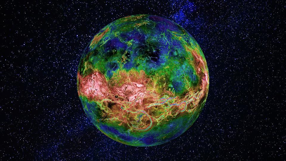 На Венере обнаружили 37 действующих вулканов