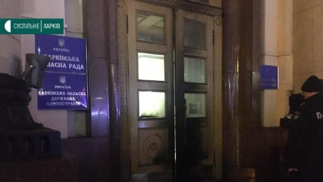 В Харькове мужчина поджег двери ОГА