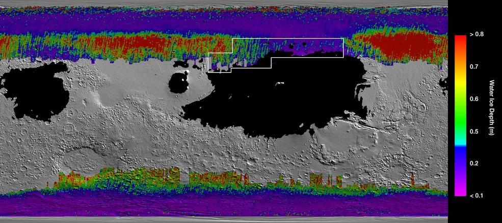 лед на Марсе, вода на Марсе