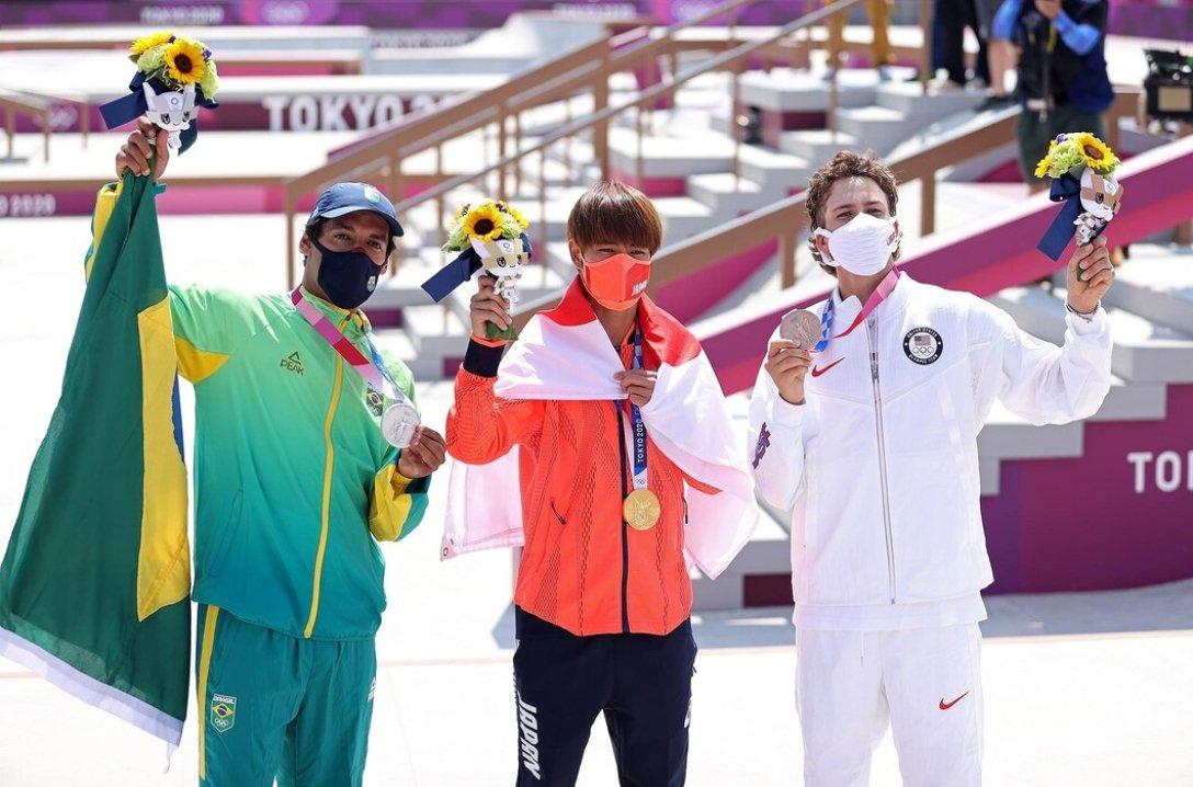 пьедестал, победители, олимпиада, фото