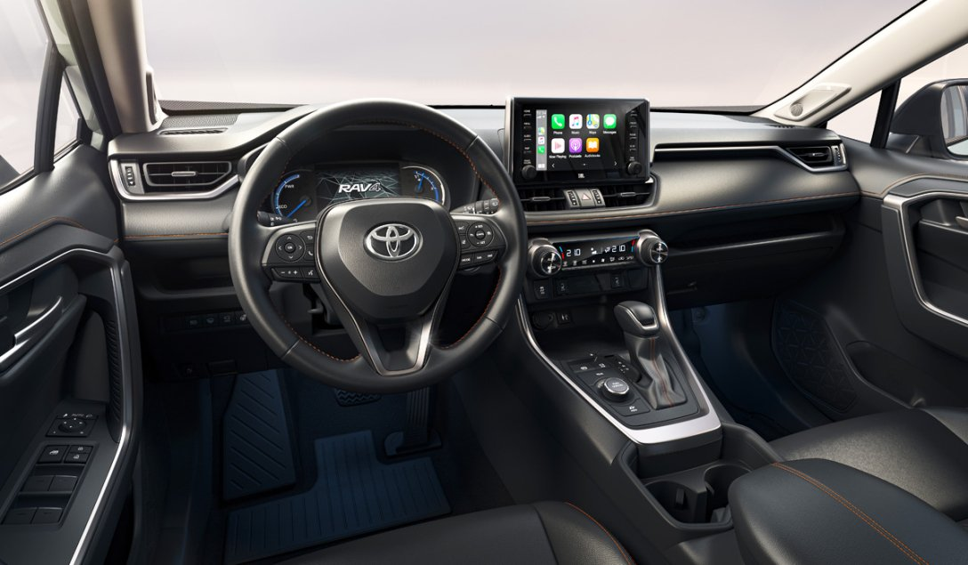 интерьер Toyota RAV4 Adventure, салон, передняя панель