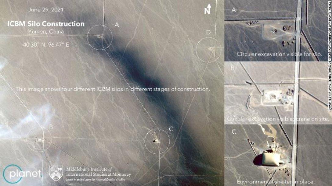шахты, межконтинентальные баллистические ракеты, китай