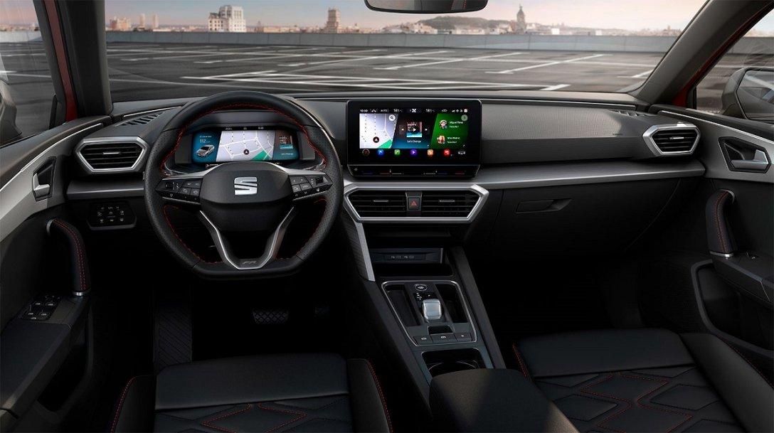 интерьер, SEAT Leon четвертого поколения, салон, цифровая панель