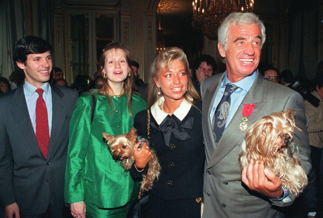 Жан-Поль Бельмондо с сыном и Натти Тердивель