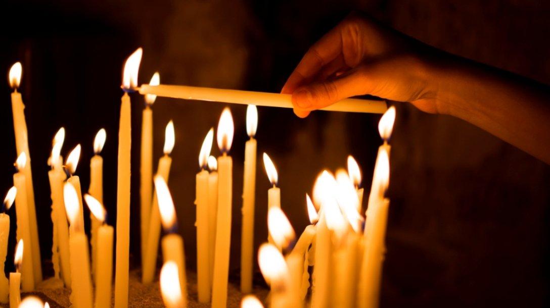 свечи, церковь, Страстная пятница