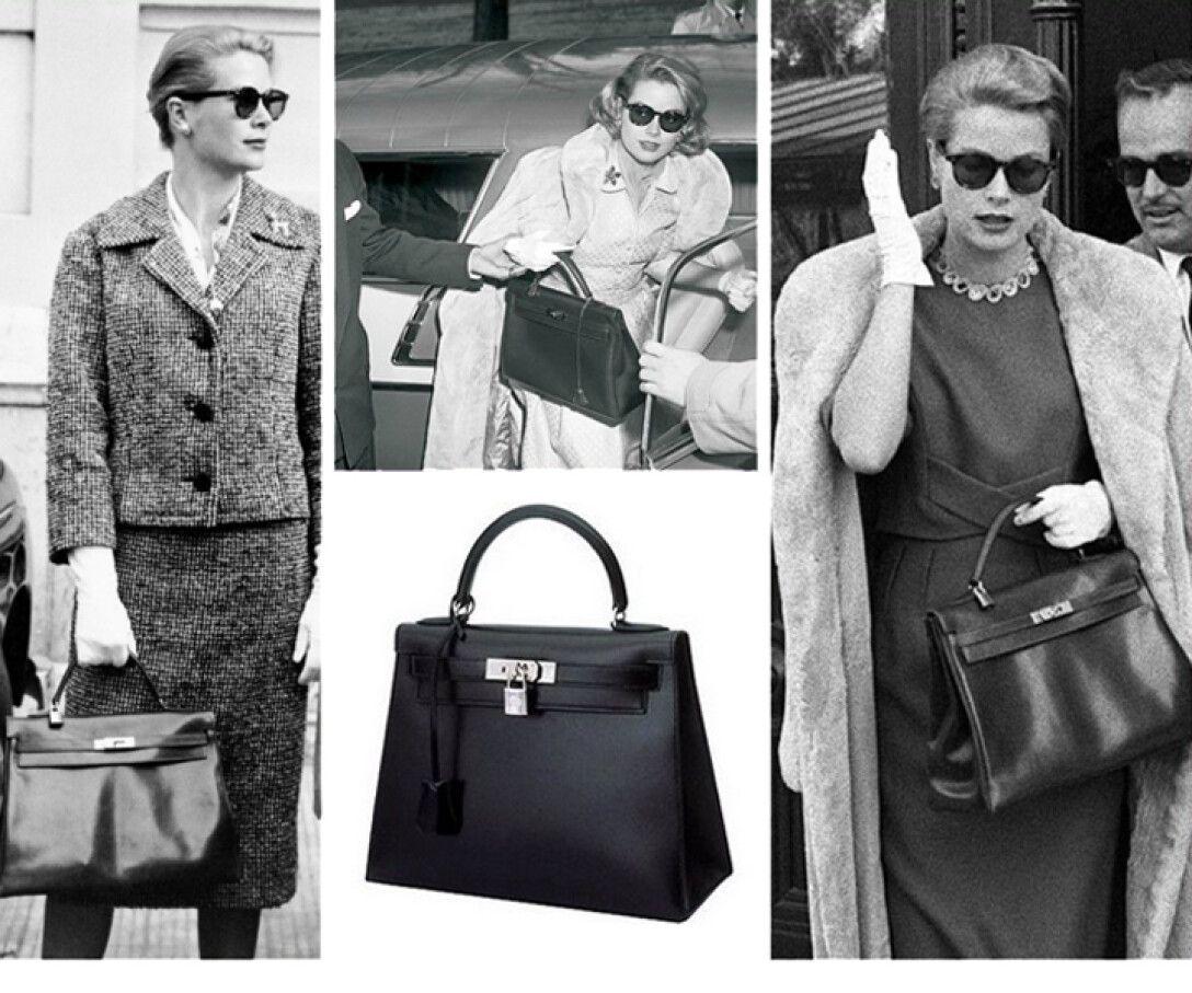 Грейс Келли в молодости, сумочка, образ, фото