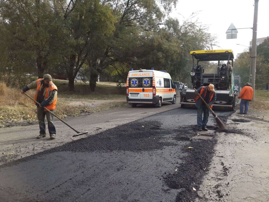 ремонт дороги, скорая помощь