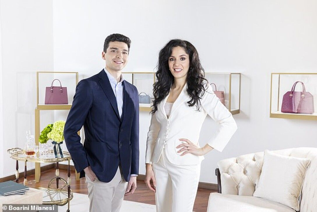 Родольфо Миланези и дизайнер Каролина Боарини