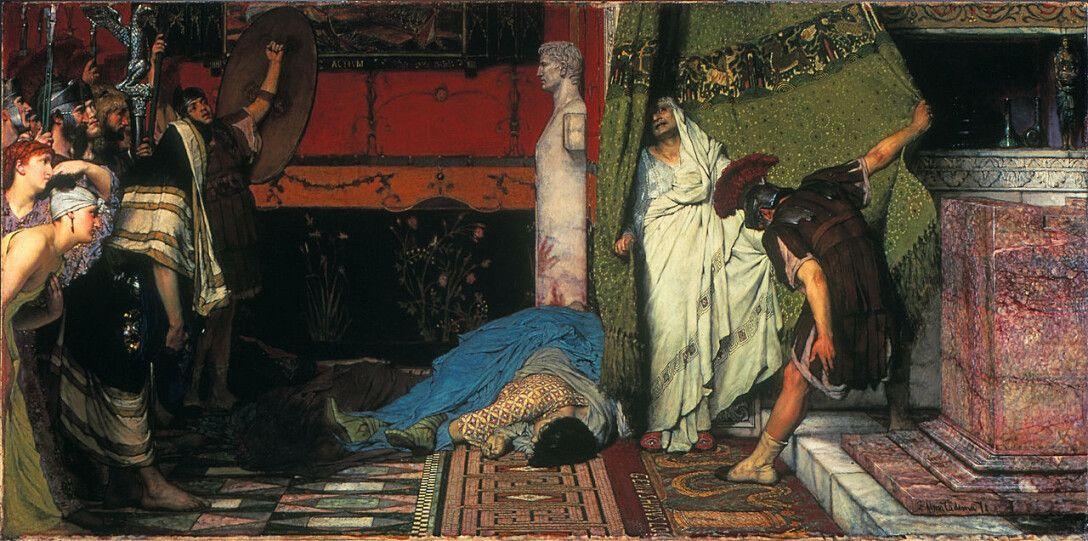 """""""Смерть Калигулы"""" (1871) Лоуренс Альма-Тадема"""