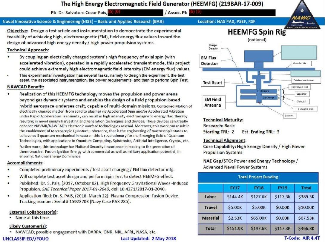 Концепт генератора високоенергетичного електромагнітного поля