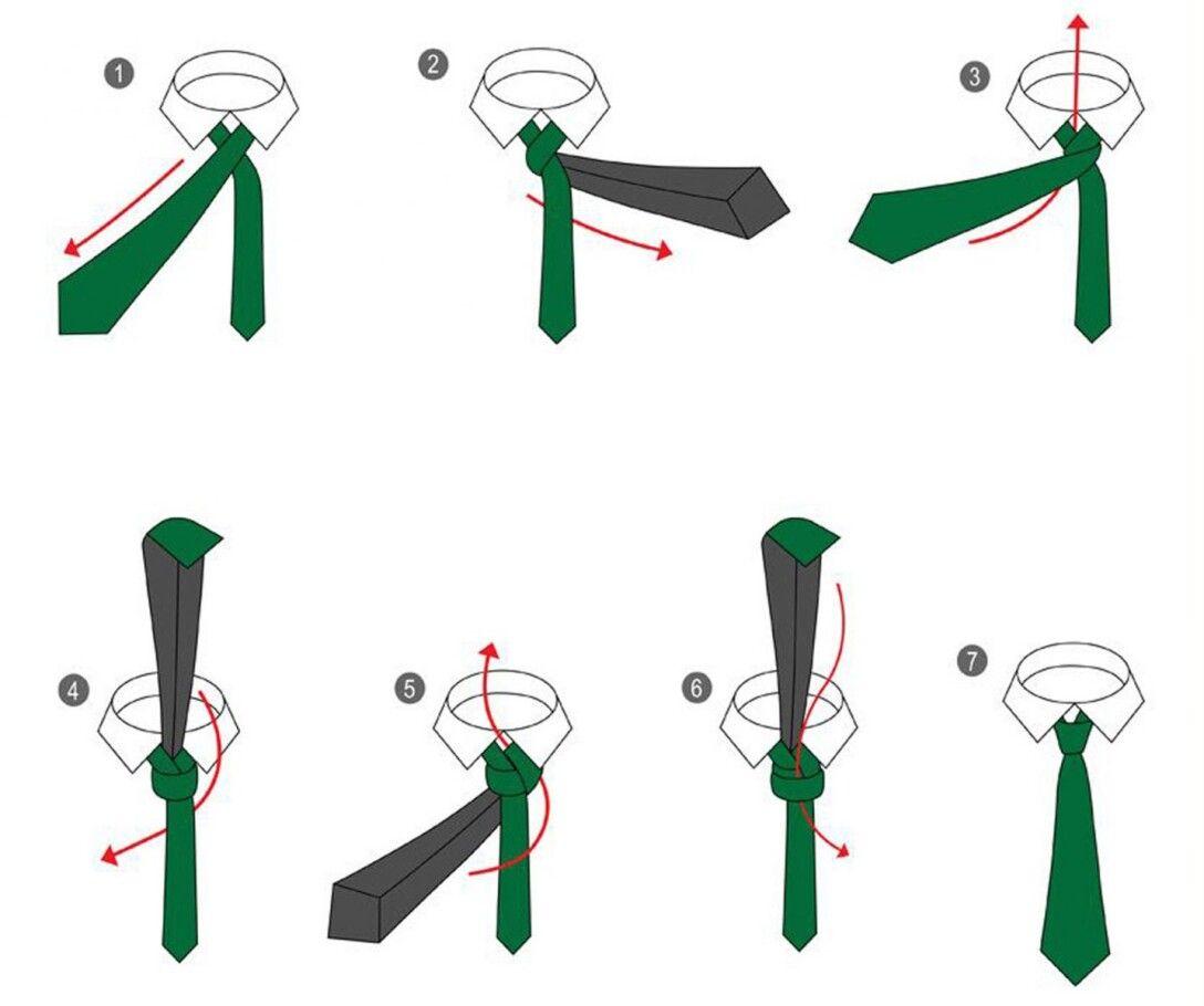 Пошаговая инструкция, уак завязывать галстук, кавендиш, узел