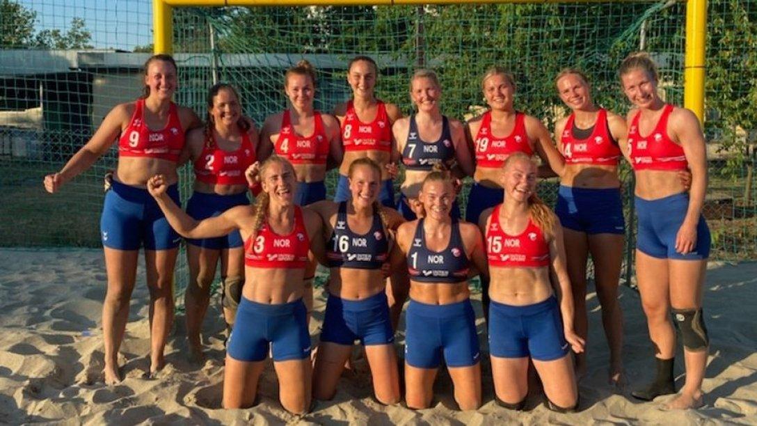 Норвегия, сборная, пляжный гандбол, женщины, фото