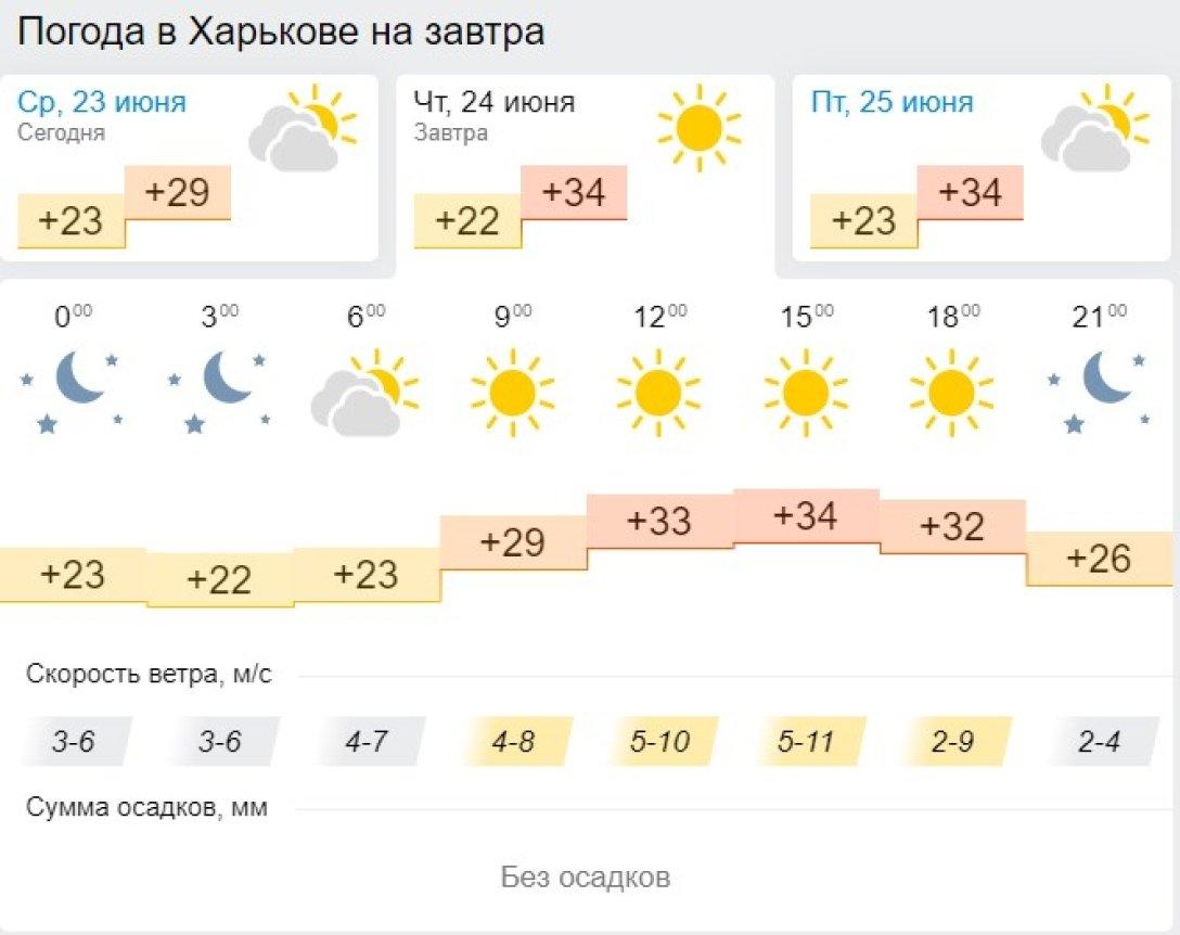 Харьков, 24 июня, прогноз,