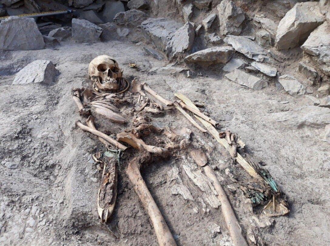 скелет, останки, фото, древний народ, некрополь
