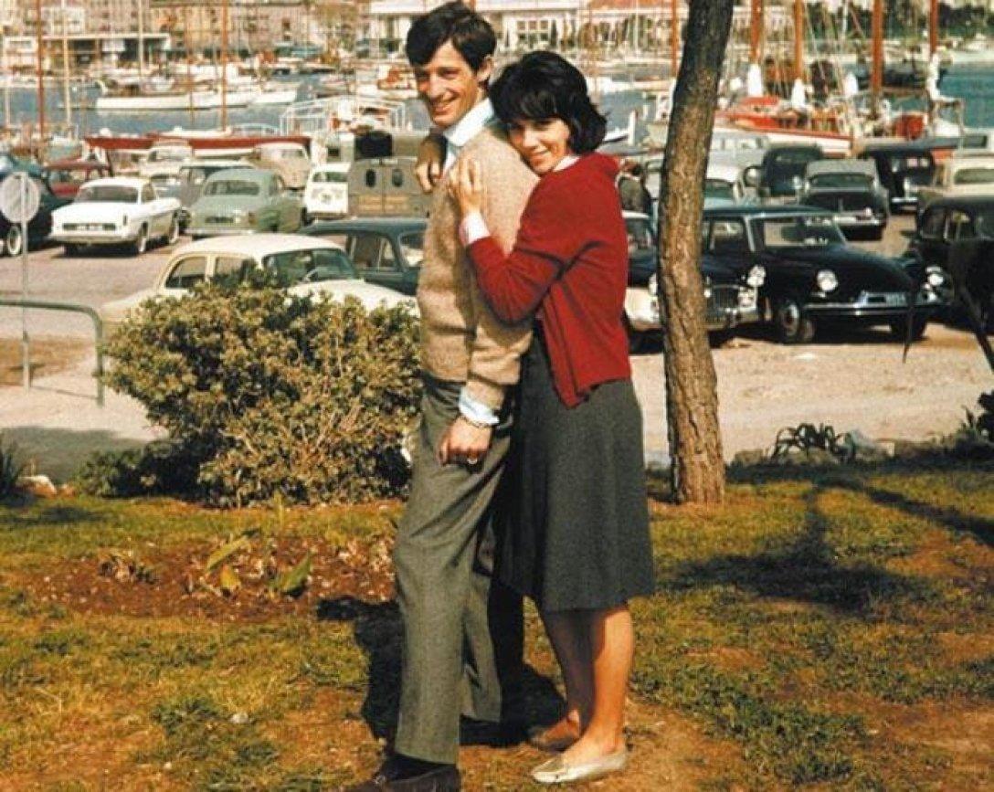 Жан-Поль Бельмондо с первой женой Элоди Константен