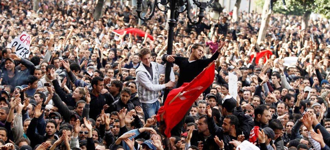 Демонстрация протеста в Тунисе