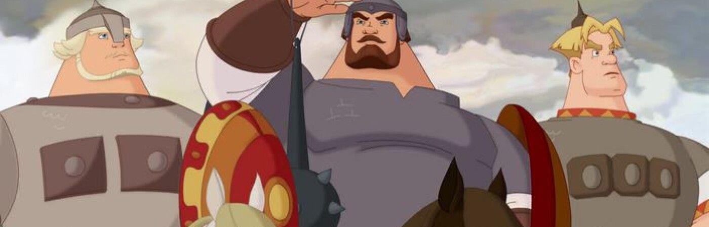 Кадр из российских мультфильмов о богатырях