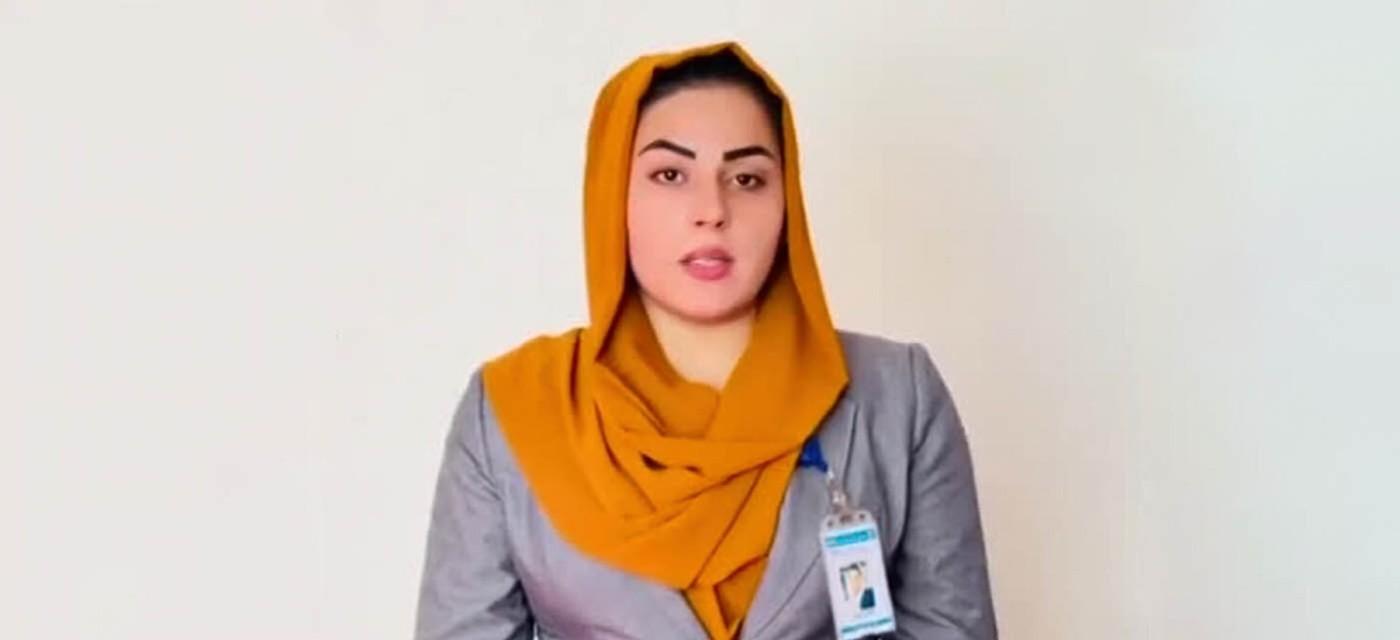 Афганская журналистка Бехешта Аргханд